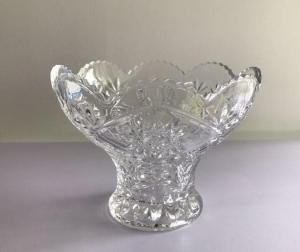 China Glass Bowl Sunflower Glass Fruit Bowl on sale