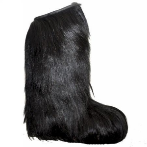 China Regina womens Knee High BLACK long hair fur boot Item Number:R01KHB on sale