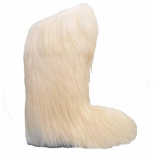 China Regina womens Knee High WHITE long hair fur boot Item Number:R01KHW on sale