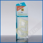 printed colorful plastic PP material clear insoles packaging box