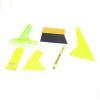 China Auto Window Film Bubble Scraper Yellow Handle Wiper Tool Set 6 in 1 for sale