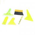 Auto Window Film Bubble Scraper Yellow Handle Wiper Tool Set 6 in 1
