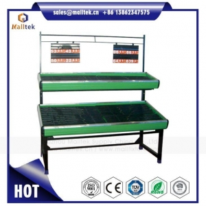 China Vegetable Display Stand Shelf Rack for Retail Grocery Shop Using Supermarket Store on sale
