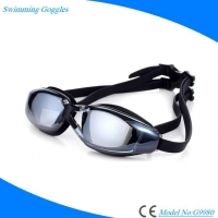 China Prescription Antifog Anti UV Swimming Goggles with Mirrored Lens for Adults on sale