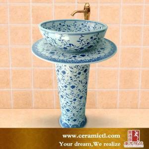 China Ceramic pedestal basin China sanitary ware on sale