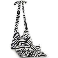 Monogrammed Tote and Towel Set - Zebra Print