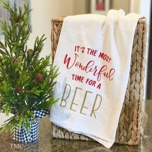 China Christmas Kitchen Towel - It's The Most Wonderful Time on sale