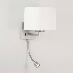 China Astro Lighting Azumi 0790 Matt Nickel LED Classic Surface Wall Light with Adjustable Spot Light on sale