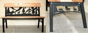 China FURNITURE Garden Bench with Moose, Bear and Deer in Woods Design on sale