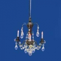 Nostalgia 3-Arm Crystal Chandelier