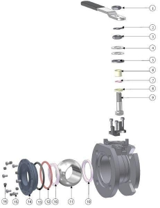 China Ball Valves Airline ATCO 2 DN50 Full Bore Flanged on sale