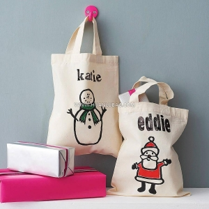 China Personalised Christmas Gift Cotton Bags on sale