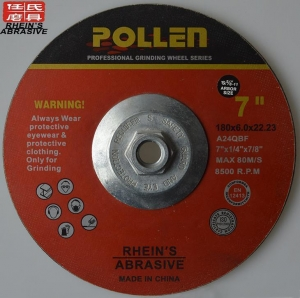 China 7Inch X 1/4Inch X7/8Inch Metal Grinding Wheel For Drill Aluminum,manufacturing Of Abrasives Supplier on sale