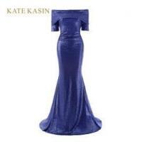 Kate Kasin Blue Sequins Mermaid Long Evening Dresses 2017 KK1046