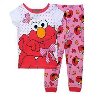 China Sesame Street Elmo Little Girls Toddler Cotton Pajama Set-Sleepwear on sale