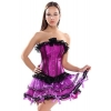 China Wuhu Burlesque Purple Corset Petticoat TuTu Skirt Costumes Set-Women for sale