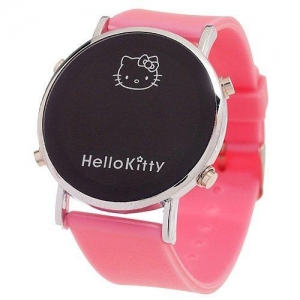 China Ladies' Kitty Round-Faced LED Digital Watch - Pink-Pocket Watches on sale