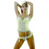 China Women's Pleated Bustier and G-String 2 Piece Set #1022-Bustiers & Corsets for sale