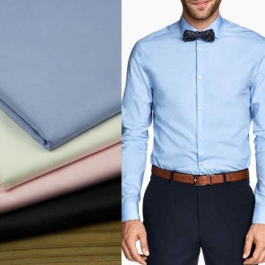 China Factory supply dyed trueran poplin fabric 60 cotton 40 polyester men shirt textile on sale