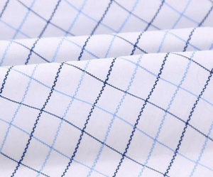 China New product white style tc yarn dyed shirt fabric on sale