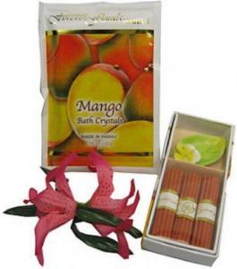 China Tropical Hawaiian Incense Bath Crystal Pack Gift Set Scented Variety (Mango) on sale