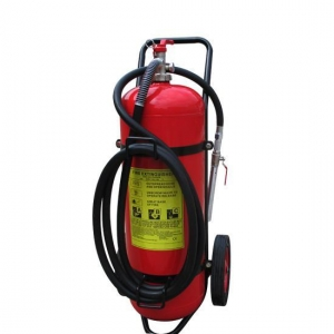 China Zhejiang Factory Products PRODUCTS BSI EN Kitemarked 50kg 40% ABC powder trolley fire extinguisher on sale