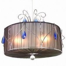 China Acrylic Chandelier/Pendant Light with Fabric Shade, CE Mark or UL Standard on sale