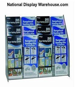 China MLS 12 - Multi-Pocket Counter Top and Wall Mount Brochure Holder for Literature up to 4 on sale