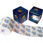 China Custom printed color pattern virgin wood plup or recycled toilet paper roll on sale