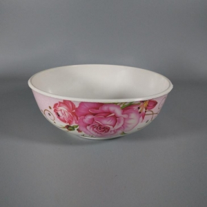 China Plastic Type Floral Melamine Round Cereal Rice Bowl on sale