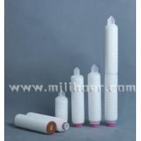 Mixed fiber membrane folding cylinder type filter element