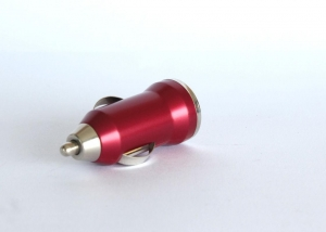 China Red Single Port 1A 5V Mobile Phone Car Charger USB 2.0 With CE Certification on sale