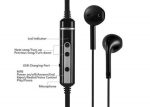 Black 60mAh Bluetooth In Ear Wireless Earbuds For Sport With Light - Weight