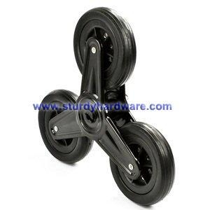 China Stair Climber Wheels, Ladder Wheel, Stair Wheel, Tri Caster Wheel on sale