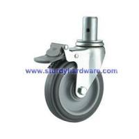 3 inch Medical Casters Shock Resistance TPR Wheel Total Lock Brake