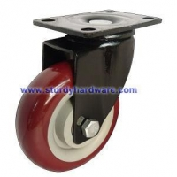 Tool Cart Casters Swivel Swivel Plate Black Yoke Polyurethane Wheel