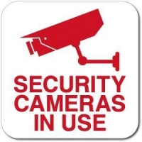 "12"" x 12"" Security Cameras In Use Sign"