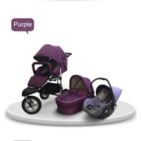 BabyBoom Purple Baby Stroller Car Seat Travel Pram Pushchair
