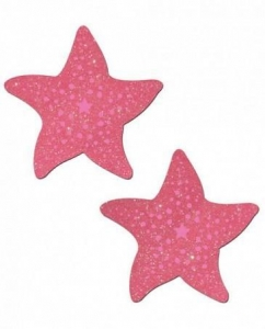China Pastease Bubble Gum Pink Glitter Starfish Pasties O/s CNVELD-8284-508 on sale