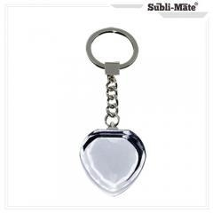 China Glass Frame sublimation Keychain Case, Crystal Heart keychain blanks Item No.: SMC-27 on sale