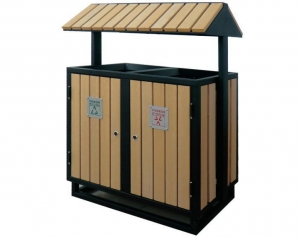 China Flower Box WPC Flower Box Dustbin Wood Planter Box Supplier on sale