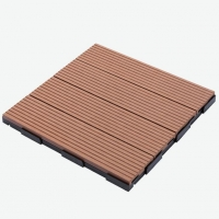 WPC DIY Decking Tile 30x30cm Flooring Composite Planks Laminate Decking Material Quality Products