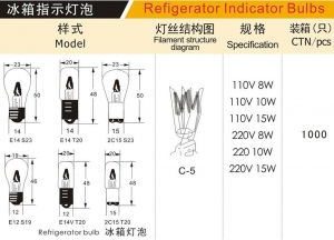 China Refrigerator light bulb 2 on sale