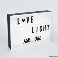 Amazon hot selling lightbox cinematic light box with black letters, colorful emojis for home decor