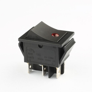 China Rocker Switch KCD2 6pins DPDT red luminous point rocker switch on sale