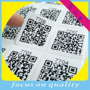China QR barcode label sticker wholesale