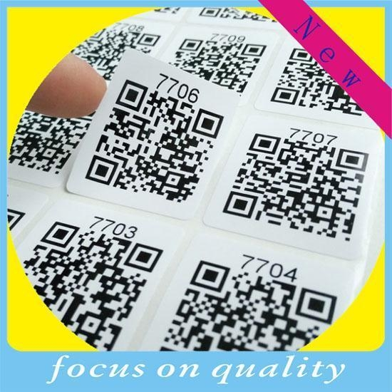 China QR barcode label sticker