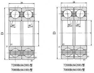 China Back lining bearing Single row angular contact ball bearing on sale