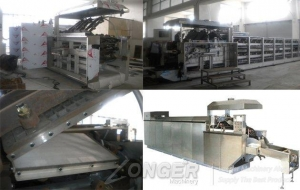 China 45 mould electric heating wafer biscuit production line on sale