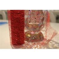 Red sequins PET mesh